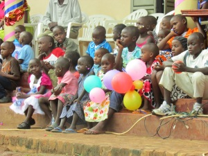Amahoro Children waiting for the feast to begin